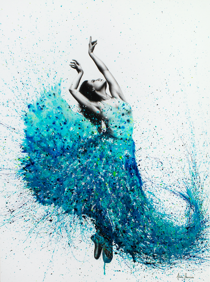 (CreativeWork) Tropical Reef Dance by Ashvin Harrison. mixed-media. Shop online at Bluethumb.