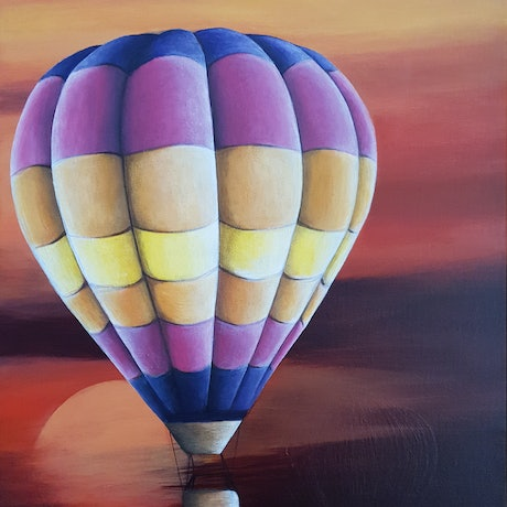 (CreativeWork) Lazy Float by Erin Hale. Acrylic Paint. Shop online at Bluethumb.