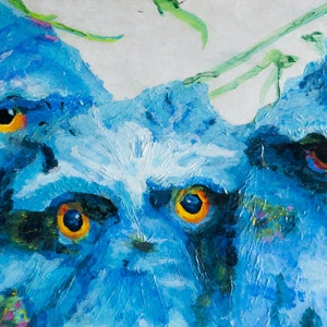 (CreativeWork) Wisdom and Wonder Tawny Frogmouth by Rodney Black. mixed-media. Shop online at Bluethumb.