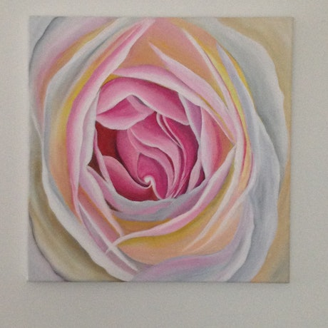 (CreativeWork) Heart by Sharon Lagden. Acrylic Paint. Shop online at Bluethumb.