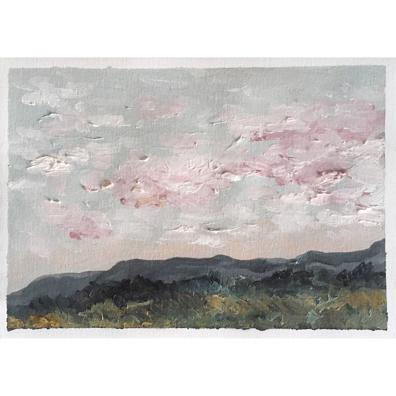 (CreativeWork) The day before the rain came  by Kiki Newdick. oil-painting. Shop online at Bluethumb.