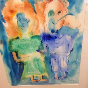 """(CreativeWork) """"I Love You"""" by Margaret Goldsmith. other-media. Shop online at Bluethumb."""