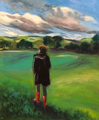 (CreativeWork) Those Boots Were Made for Walking by John Klein. Acrylic. Shop online at Bluethumb.