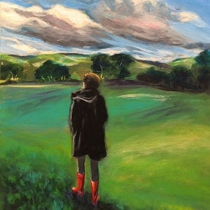 (CreativeWork) Those Boots Were Made for Walking by John Klein. arcylic-painting. Shop online at Bluethumb.