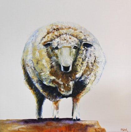 (CreativeWork) View from the top by Angie Aubert. oil-painting. Shop online at Bluethumb.