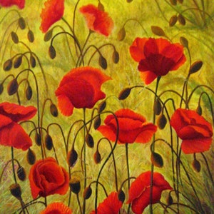 (CreativeWork) Lest We Forget  by Carry Smith. oil-painting. Shop online at Bluethumb.