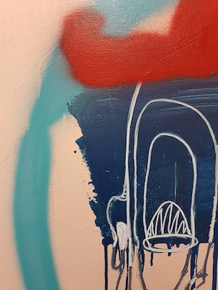 (CreativeWork) Sharp Dresser (Abstract Release 5) by Sam Patterson-Smith. Acrylic Paint. Shop online at Bluethumb.