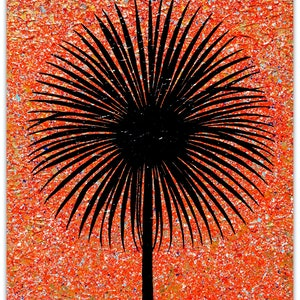 (CreativeWork) Tree - Sunset Cordyline (outback) special  by Miranda Lloyd. mixed-media. Shop online at Bluethumb.