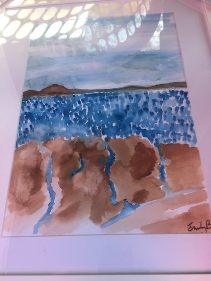 (CreativeWork) The Cove II by Emily Butters. watercolour. Shop online at Bluethumb.