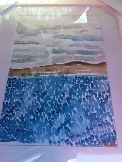 (CreativeWork) The Cove III by Emily Butters. watercolour. Shop online at Bluethumb.