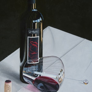 (CreativeWork) Gravitas by Rob Kennedy. oil-painting. Shop online at Bluethumb.