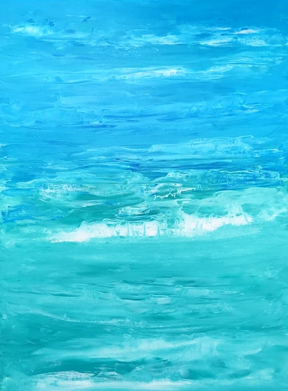 (CreativeWork) Winter Sea by Susanne Tester. arcylic-painting. Shop online at Bluethumb.