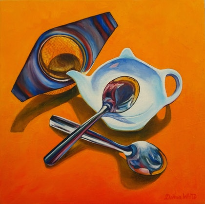 (CreativeWork) SPOON REST by Delma White. oil-painting. Shop online at Bluethumb.