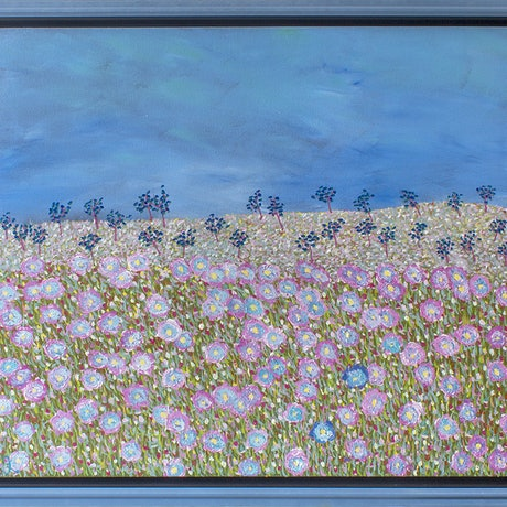 (CreativeWork) Merry Meadow by Helen Joynson. Acrylic Paint. Shop online at Bluethumb.