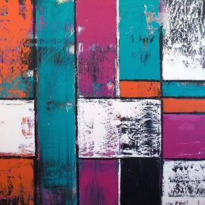 (CreativeWork) Inner Mondrian by Hilly Coufreur. arcylic-painting. Shop online at Bluethumb.