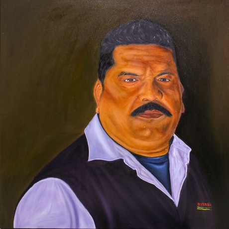 (CreativeWork) The Bus Driver  by Lorenze Singh. Oil Paint. Shop online at Bluethumb.