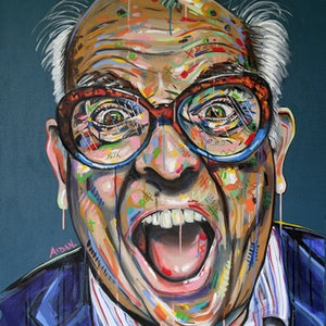 (CreativeWork) Ralph Steadman by Aidan Smith. oil-painting. Shop online at Bluethumb.