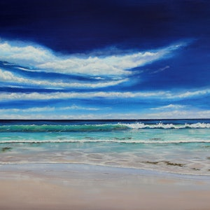 (CreativeWork) Drift  by Ann Steer. arcylic-painting. Shop online at Bluethumb.
