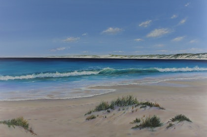 (CreativeWork) Perfect Day, Gnaraloo  by Ann Steer. arcylic-painting. Shop online at Bluethumb.
