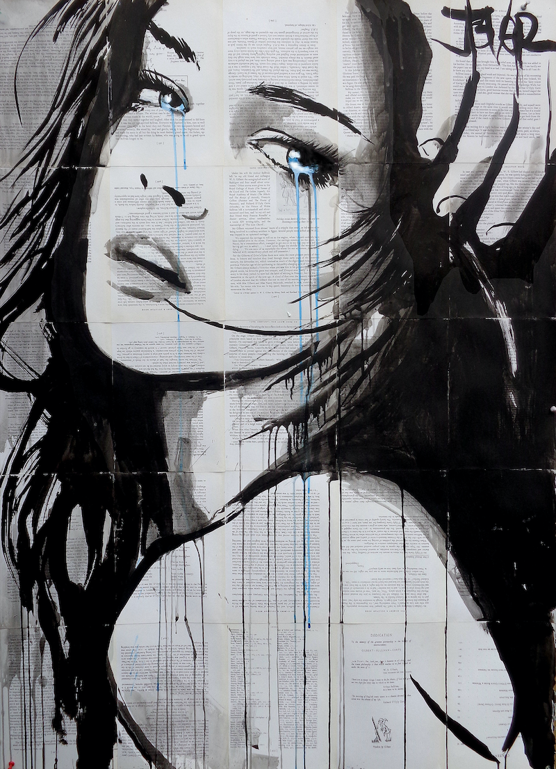 (CreativeWork) INTERLUDE in BLUE by loui jover. drawing. Shop online at Bluethumb.
