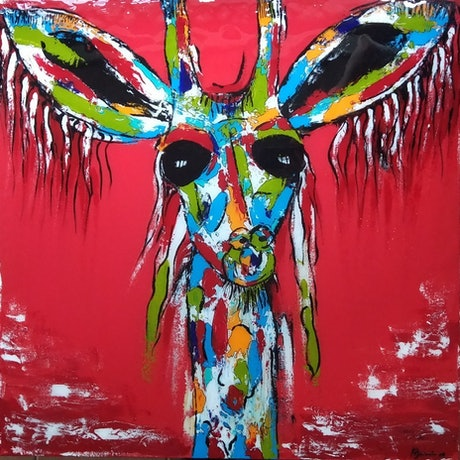 (CreativeWork) G. G. Giraffe by dMilo .. Acrylic Paint. Shop online at Bluethumb.