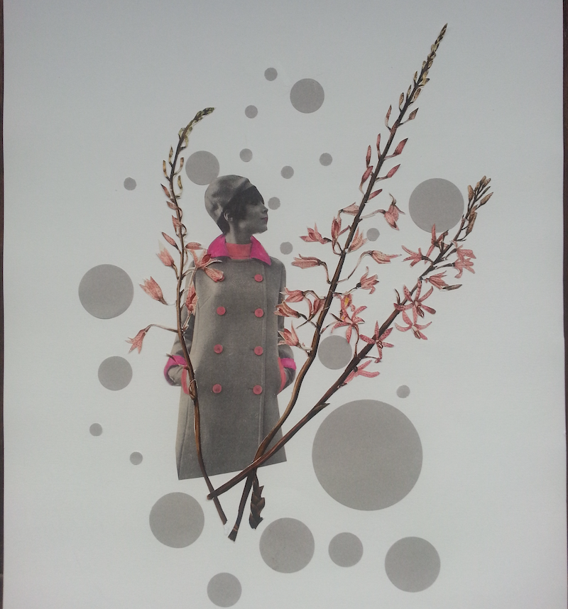 (CreativeWork) 'Orchid Series - #2' by Karen Coull. mixed-media. Shop online at Bluethumb.