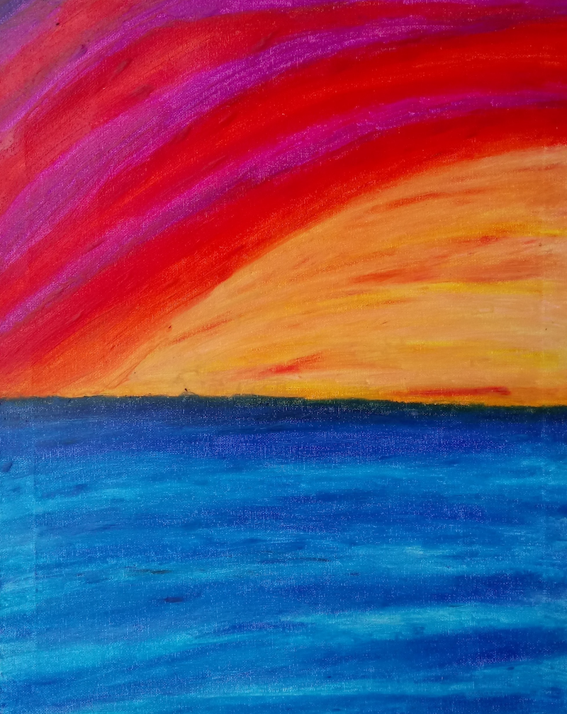 (CreativeWork) Summer Dreams   - stretched canvas ready to hang by IIsabelle Caille. other-media. Shop online at Bluethumb.