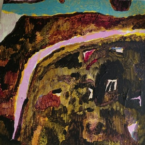 (CreativeWork) Vineworld by Ollie F Doherty. arcylic-painting. Shop online at Bluethumb.