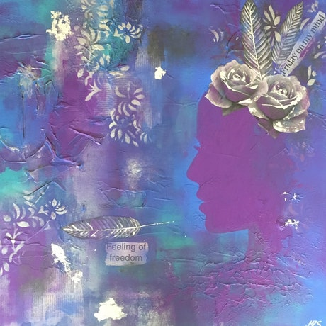 (CreativeWork) Friday on my Mind by Melanie Spehr. Mixed Media. Shop online at Bluethumb.