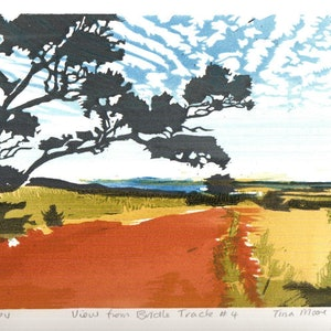 (CreativeWork) View from Bridle Track #4 Ed. 1 of 8 by Tina Moore. print. Shop online at Bluethumb.