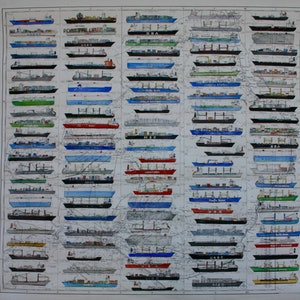 (CreativeWork) Ship Spotting by Bridgit Thomas. watercolour. Shop online at Bluethumb.
