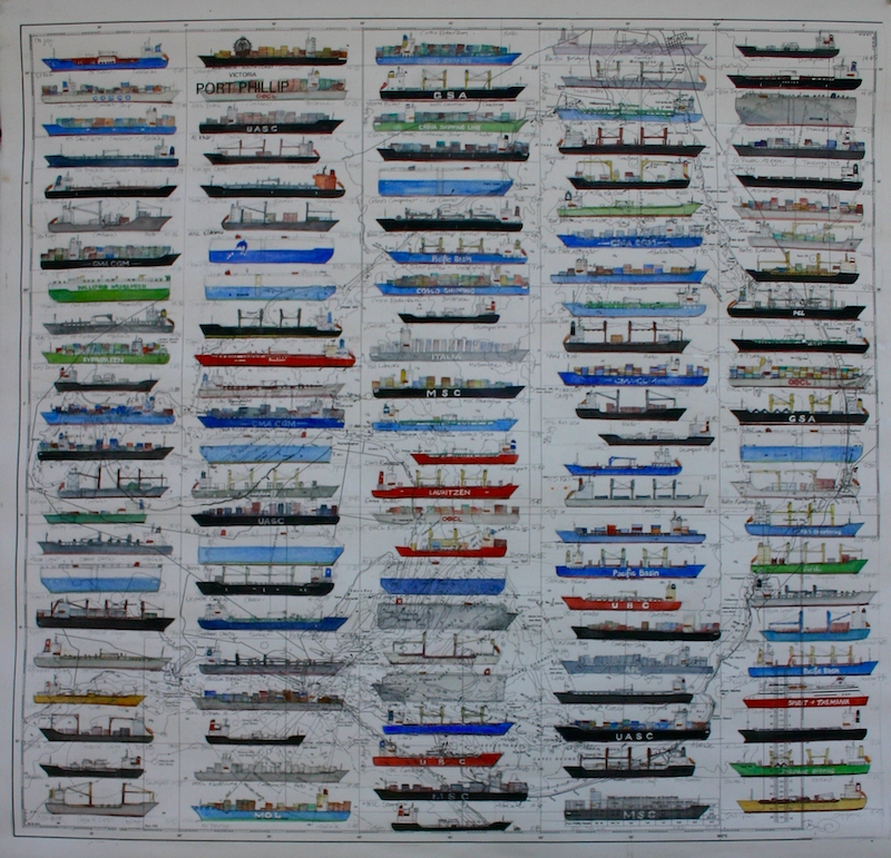 (CreativeWork) Ship Spotting by Bridgit Thomas. Watercolour Paint. Shop online at Bluethumb.