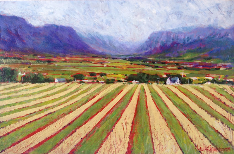 (CreativeWork) FARMLANDS by LOUISE GROVE WIECHERS. Oil Paint. Shop online at Bluethumb.