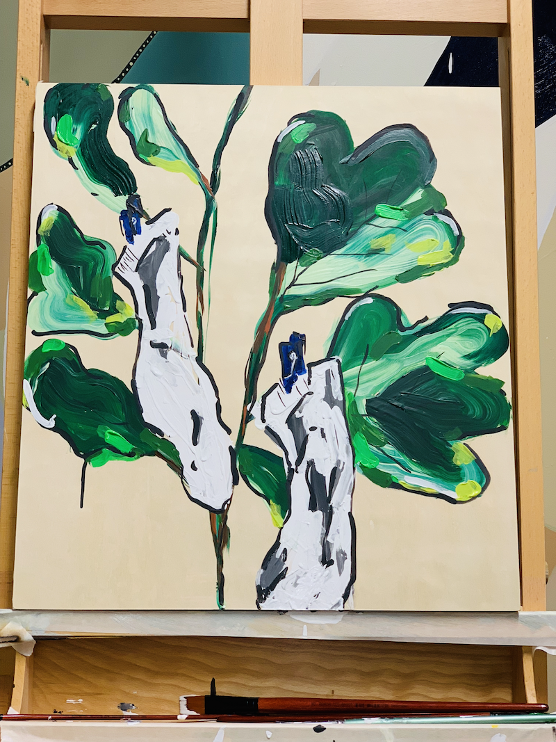 (CreativeWork) The fig tree and the socks by Anna Constantine. Acrylic Paint. Shop online at Bluethumb.