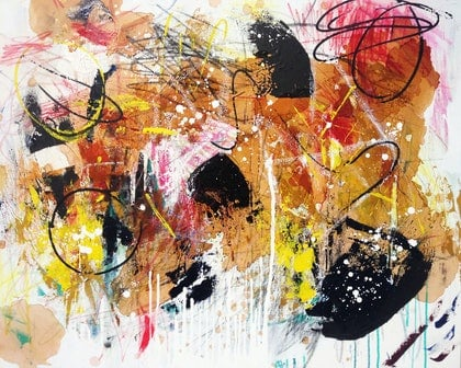 (CreativeWork) Untitled No. 10 by Aimee Rytenskild. mixed-media. Shop online at Bluethumb.