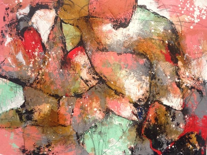(CreativeWork) Untitled No. 14 by Aimee Rytenskild. mixed-media. Shop online at Bluethumb.