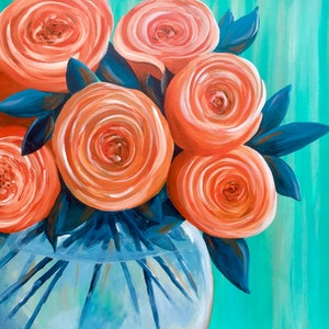 (CreativeWork) My Beauties by Colleen Palmer. arcylic-painting. Shop online at Bluethumb.
