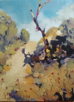 (CreativeWork) Walking Track  by Glen Mackay. Oil Paint. Shop online at Bluethumb.