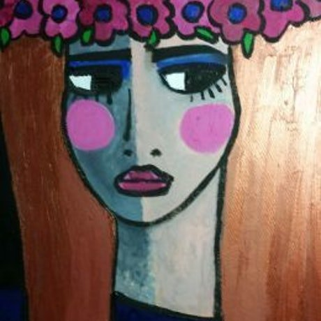 (CreativeWork) Nicole by jane ruggiero. Oil Paint. Shop online at Bluethumb.