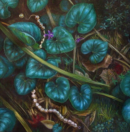 (CreativeWork) Found I  by Llael McDonald. oil-painting. Shop online at Bluethumb.