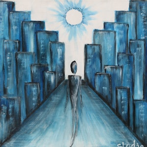 (CreativeWork) keep walking by sladjana lazarevic. arcylic-painting. Shop online at Bluethumb.