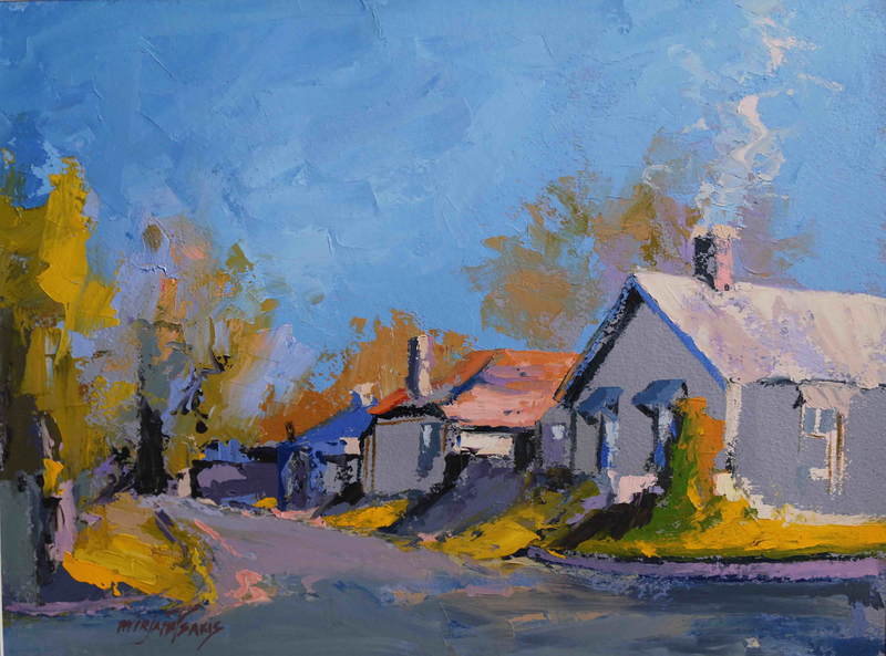 (CreativeWork) Edward Lane, Mittagong NSW by Mirjana Psakis. oil-painting. Shop online at Bluethumb.
