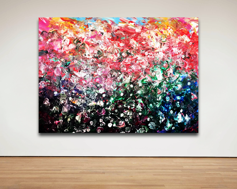 (CreativeWork) Forever Bloom by Estelle Asmodelle. Acrylic Paint. Shop online at Bluethumb.