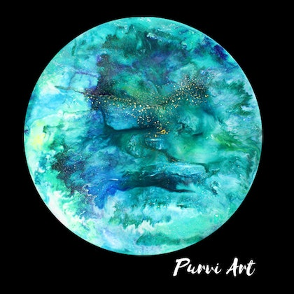 (CreativeWork) Seablue by Purvi Patel. resin. Shop online at Bluethumb.