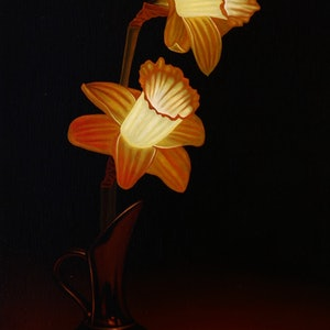 (CreativeWork) Daffodil  by Sebastian Galloway. oil-painting. Shop online at Bluethumb.