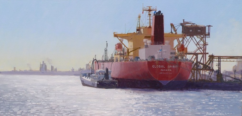 (CreativeWork) Bunkering by Don Braben. oil-painting. Shop online at Bluethumb.