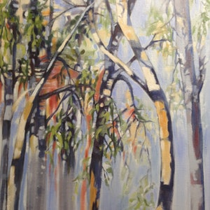 (CreativeWork) Quiet  Wandering's by Leanne Manns. arcylic-painting. Shop online at Bluethumb.