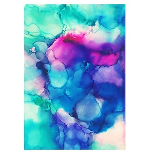 (CreativeWork) Moau Alcohol Ink Print by Nikki Royle. other-media. Shop online at Bluethumb.