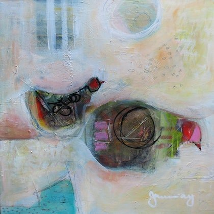 (CreativeWork) COOP by Jo Murray. mixed-media. Shop online at Bluethumb.