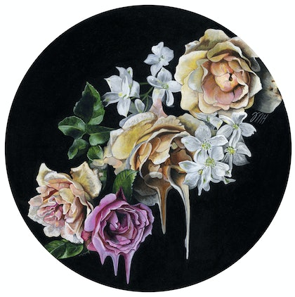 (CreativeWork) Solace by Melissa Hartley. arcylic-painting. Shop online at Bluethumb.